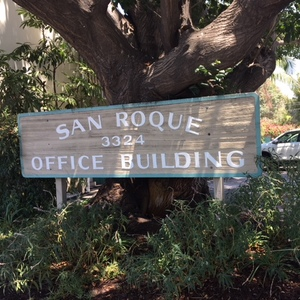 San roque office building sign